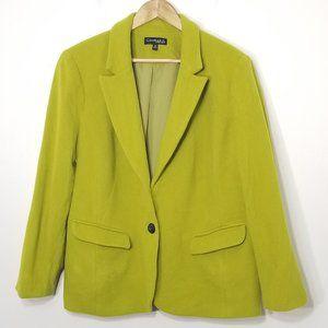 Conrad C | Green Wool Cashmere Blend Blazer 18